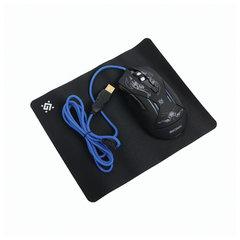 Мышь проводная игровая DEFENDER Bionic GM-250L, USB, 5 кнопок + 1 колесо-кнопка, оптическая, черная, 52250