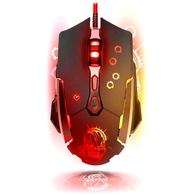 Мышь проводная игровая DEFENDER Killer GM-170L, USB, 6 кнопок + 1 колесо-кнопка, оптическая, черная, 52170
