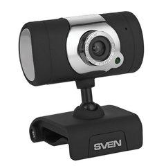 Веб-камера SVEN IC-525, 1,3 Мп, микрофон, USB 2.0, регулируемое крепление, черная, SV