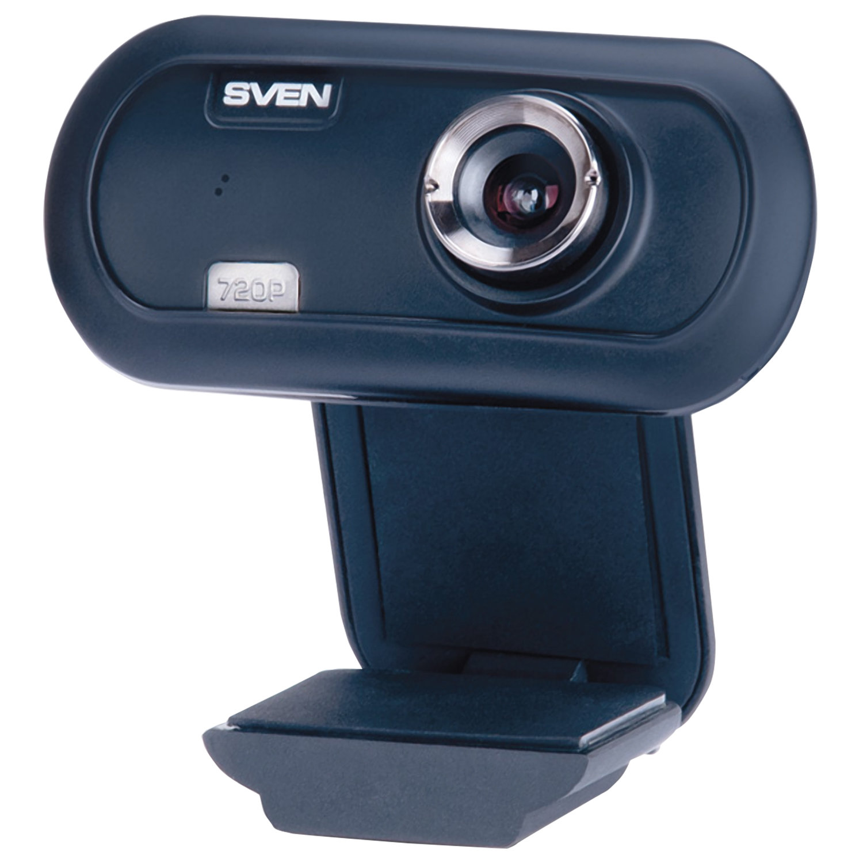 Веб-камера SVEN IC-950 HD, 1,3 Мп, микрофон, USB 2.0, регулируемое крепление, синий, SV-0602IC950HD