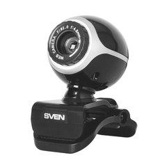 Веб-камера SVEN IC-300 HD, 0,3 Мп, микрофон, USB 2.0, регулируемое крепление, черный