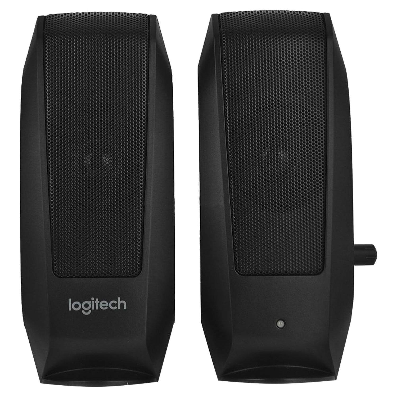 Колонки компьютерные LOGITECH S120, 2.0, 2х1, 2 Вт, пластиковый корпус, черный, 980-000010