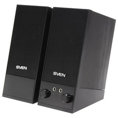 Колонки компьютерные SVEN SPS-604, 2.0, 2х2 Вт, дерево, черные, SV-0120604BK