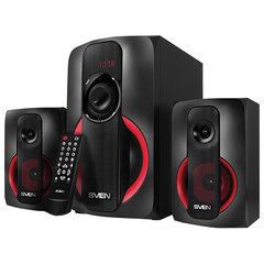Колонки компьютерные SVEN AC MS-304, 2.1, 40 Вт, FM, USB, SD, MP3-плеер, Bluetooth, дерево, черные