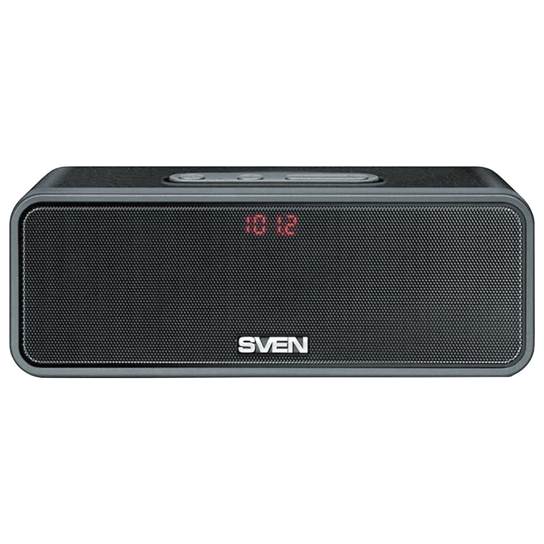 Колонка портативная SVEN PS-170BL, 2.0, 10 Вт, Bluetooth, FM-тюнер, USB, microUSB, черная, SV-014612