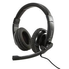 Наушники с микрофоном (гарнитура) GEMBIRD MHS-800, проводные, 1,8 м, полноразмерные с оголовьем