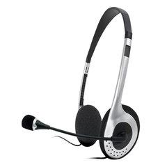 Наушники с микрофоном (гарнитура) SVEN AP-010MV, проводные, 2 м, с оголовьем, черные