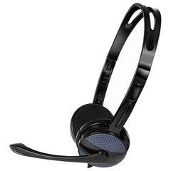 Наушники с микрофоном (гарнитура) SVEN AP-150MV, проводные, 2,2 м, с оголовьем, черные