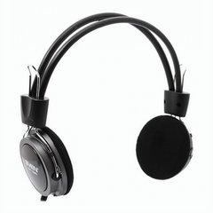 Наушники с микрофоном (гарнитура) SVEN AP-520, проводные, 2,2 м, с оголовьем, черные, SV-0410520
