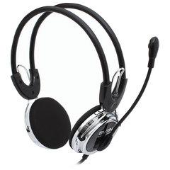 Наушники с микрофоном (гарнитура) SVEN AP-525MV, проводные, 2,2 м, с оголовьем, черные