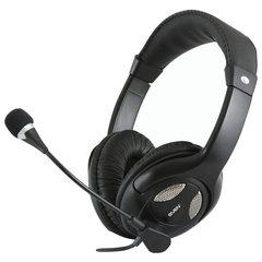 Наушники с микрофоном (гарнитура) SVEN AP-670MV, проводные, 2,5 м, с оголовьем, черные