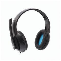 Наушники с микрофоном (гарнитура) SVEN AP-680MV, проводные, 2,5 м, с оголовьем, черные, SV-0410680MV