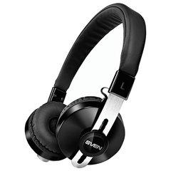 Наушники с микрофоном (гарнитура) SVEN AP-B350MV, Bluetooth, беспроводные, с оголовьем, черные