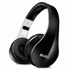 Наушники с микрофоном (гарнитура) SVEN AP-B450MV, Bluetooth, беспроводные, с оголовьем, черные