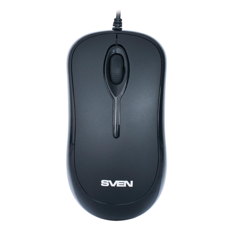 Мышь проводная SVEN RX-165, USB, 2 кнопки + 1 колесо-кнопка, оптическая, чёрная, SV-03200165UB
