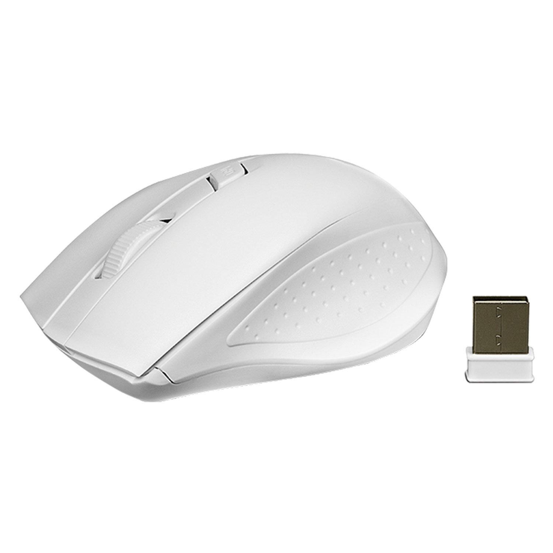 Мышь беспроводная SVEN RX-325, 3 кнопки + 1 колесо-кнопка, оптическая, белая, SV-03200325WW