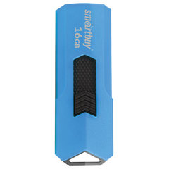 Флэш-диск 16 GB SMARTBUY Stream USB 2.0, синий