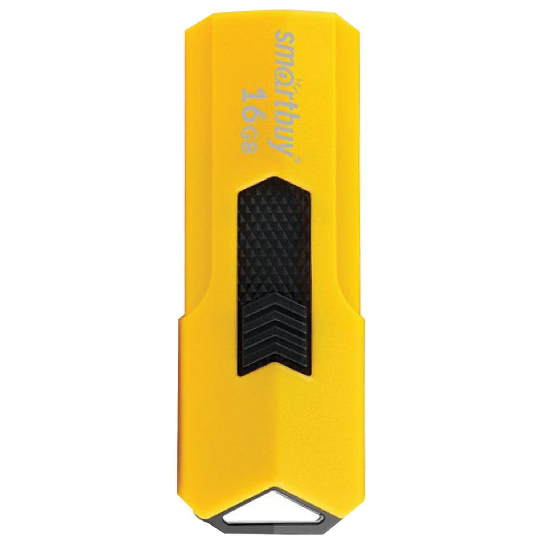 Флеш-диск 16 GB SMARTBUY Stream USB 2.0, желтый, SB16GBST-Y