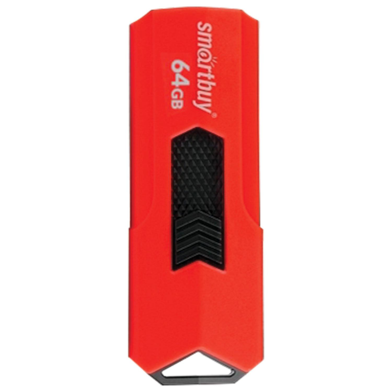 Флеш-диск 64 GB SMARTBUY Stream USB 3.0, красный, SB64GBST-R3