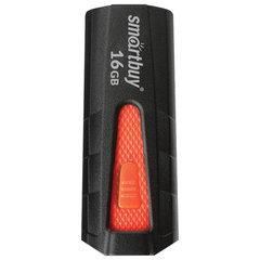Флэш-диск 16 GB SMARTBUY Iron USB 3.0, черный/красный