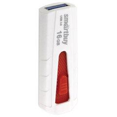 Флэш-диск 16 GB SMARTBUY Iron USB 3.0, белый/красный