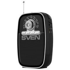 Радиоприёмник SVEN SRP-445, 3 Вт, FM/AM, USB, microSD, пластик, аккумулятор, черный