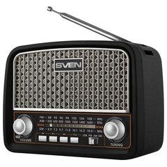 Радиоприёмник SVEN SRP-555, 3 Вт, FM/AM/SW, USB, microSD, встроенная антенна, пластик, черный