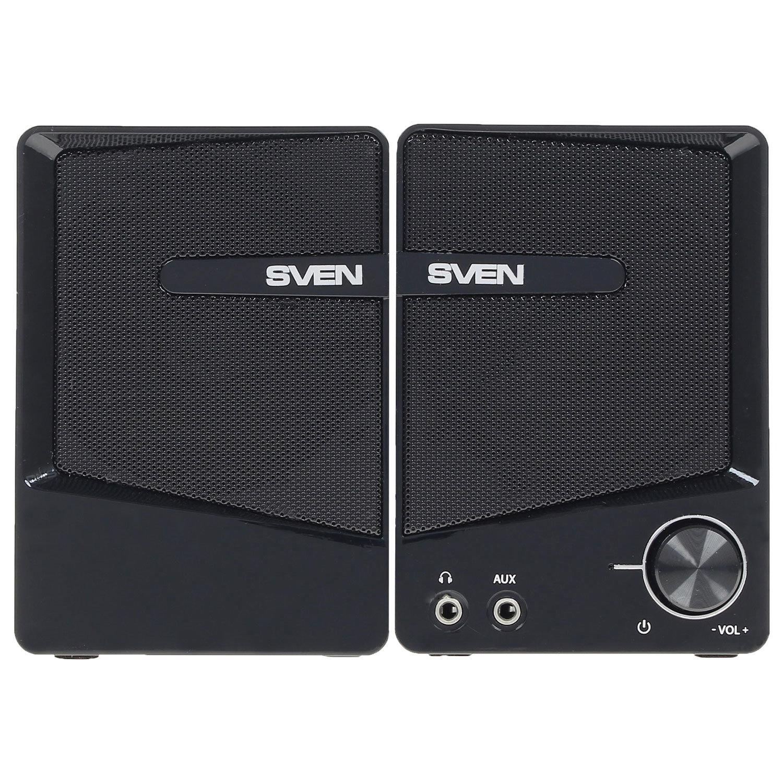 Колонки компьютерные SVEN 248, 2.0, 6 Вт, пластик, частотный диапазон 90 – 20 000 Гц, черный