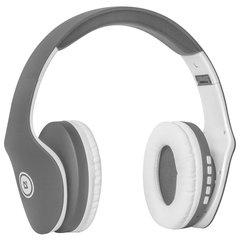 Наушники с микрофоном (гарнитура) DEFENDER FREEMOTION B525, Bluetooth, беспроводные, серые с белым