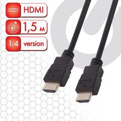 Кабель HDMI AM-AM, 1,5 м, SONNEN, для передачи цифрового аудио-видео, черный, 513120