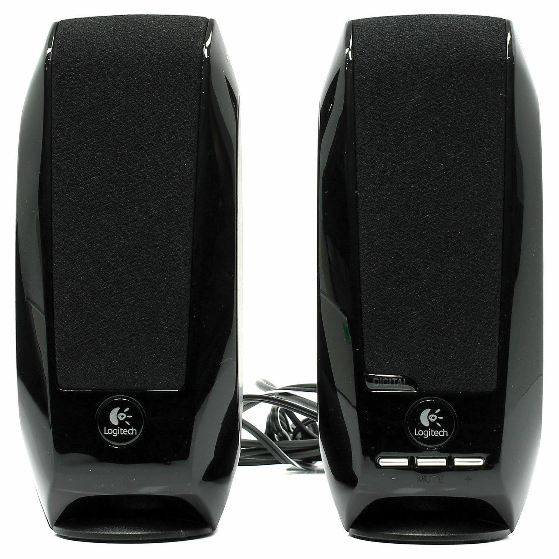 Колонки компьютерные LOGITECH S150, 2.0, 2х0.6, USB, чёрные, 980-000029