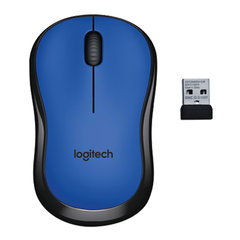 Мышь беспроводная LOGITECH M220, 2 кнопки + 1 колесо-кнопка, оптическая, сине-чёрная, 910-004879
