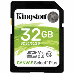 Карта памяти SDHC 32GB KINGSTON Canvas Select Plus UHS-I U1, 100 Мб/сек (class 10), SDS2/32GB