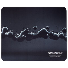 """Коврик для мыши SONNEN """"DROPS"""", резина + ткань, 220х180х3 мм, 513290"""