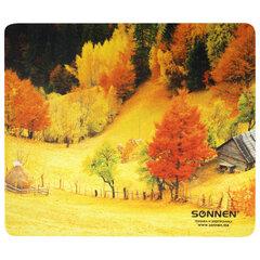 """Коврик для мыши SONNEN """"FALL"""", резина + ткань, 260х220х3 мм, 513297"""