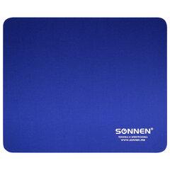 """Коврик для мыши SONNEN """"BLUE"""", резина + ткань, 220х180х3 мм, 513308"""