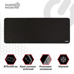 """Коврик для мыши и клавиатуры большой SONNEN """"WIDE RANGE"""", резина+ткань, 870х350х4 мм, чёрный, 513315"""
