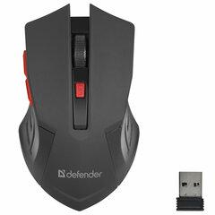Мышь беспроводная DEFENDER Accura MM-275, USB, 5 кнопок + 1 колесо-кнопка, оптическая, красная, 52276
