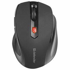Мышь беспроводная DEFENDER Ultra MM-315, USB, 5 кнопок + 1 колесо-кнопка, оптическая, черная, 52315