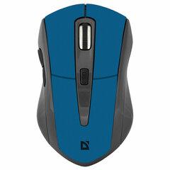 Мышь беспроводная DEFENDER Accura MM-965, USB, 5 кнопок + 1 колесо-кнопка, оптическая, голубая, 52967