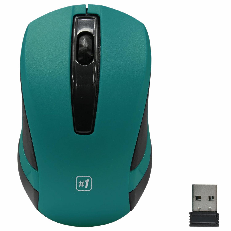 Мышь беспроводная DEFENDER #1 MM-605, USB, 2 кнопки + 1 колесо-кнопка, оптическая, зеленая, 52607