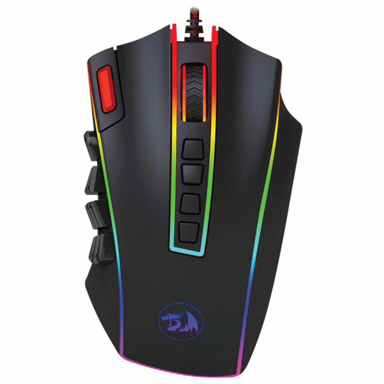 Мышь проводная игровая REDRAGON Legend Chroma, USB, 23 кнопки + 1 колесо-кнопка, оптическая, черная