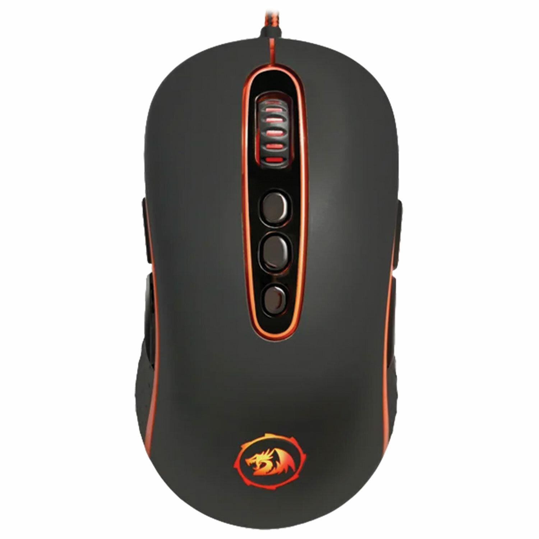 Мышь проводная игровая REDRAGON Phoenix, USB, 10 кнопок + 1 колесо-кнопка, оптическая, черная, 75097