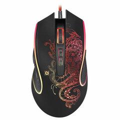 Мышь проводная игровая DEFENDER Venom GM-640L, USB, 7 кнопок + 1 колесо-кнопка, оптическая, черная