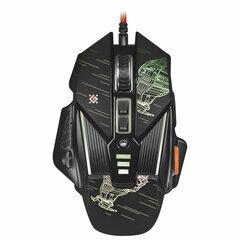 Мышь проводная игровая DEFENDER sTarx GM-390L, USB, 7 кнопок+1 колесо-кнопка, оптическая, черная