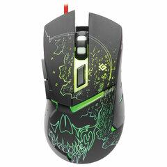 Мышь проводная игровая DEFENDER Alfa GM-703L, USB, 6 кнопок+1 колесо-кнопка, оптическая, черная