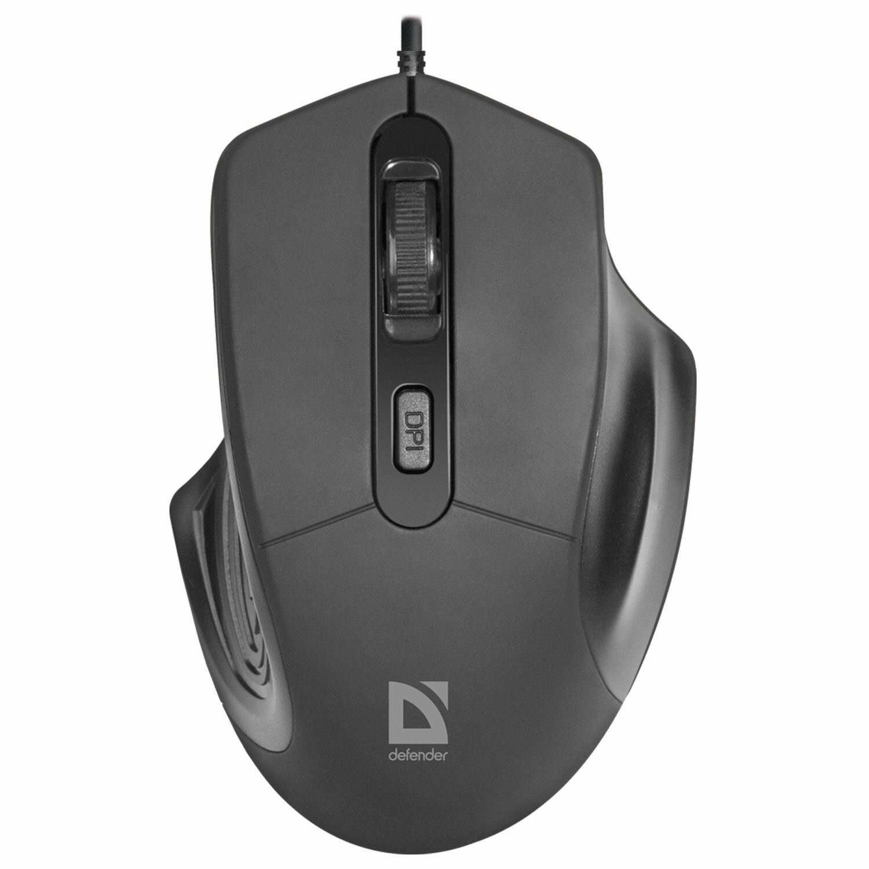 Мышь проводная DEFENDER Datum MB-347, USB, 3 кнопки + 1 колесо-кнопка, оптическая, черная, 52347