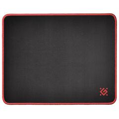 Коврик для мыши игровой DEFENDER Black M, ткань + резина, 360x270x3 мм, черный, 50560