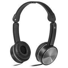Наушники с микрофоном (гарнитура) DEFENDER Accord 145, проводные, 1,2 м, с оголовьем, черные