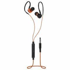 Наушники с микрофоном (гарнитура) вкладыши DEFENDER OutFit W770, проводные, 1,5 м, черные с оранжевым